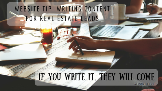 Website Tip: Writing Content for Real Estate Leads